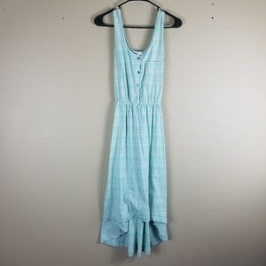 Merona Light Blue Striped Hi-Low Dress Small
